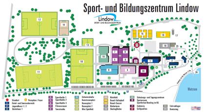 Lindow Lageplan