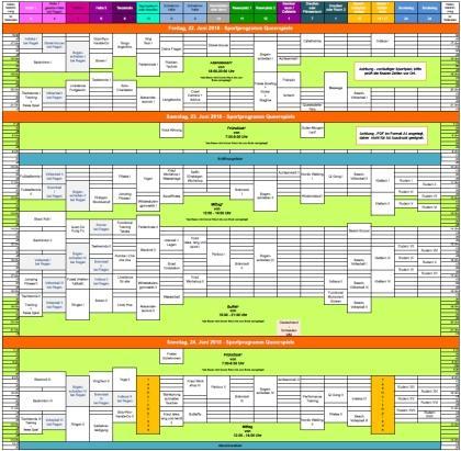 Sportplan für die Queerspiele 2018